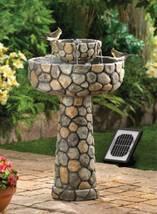 12841 SHIPS FREE-Cascading Fountains Cobblestone Solar Water Fountain - $190.49