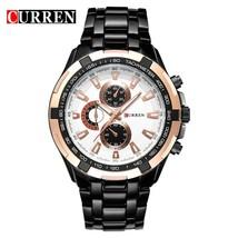 CURREN Men     Black  Watch Man Military Sport Clock Male Fashion Wristwatch Rel - $39.62