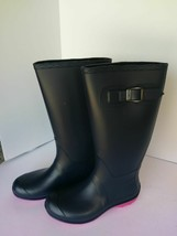 NEW! Kamik Women's Rain Boots Tall Waterproof Olivia Navy Pink Size 6 - $35.63