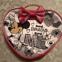 Disney Minnie Mouse purse heart shape pink faux pearl handle  - $16.59