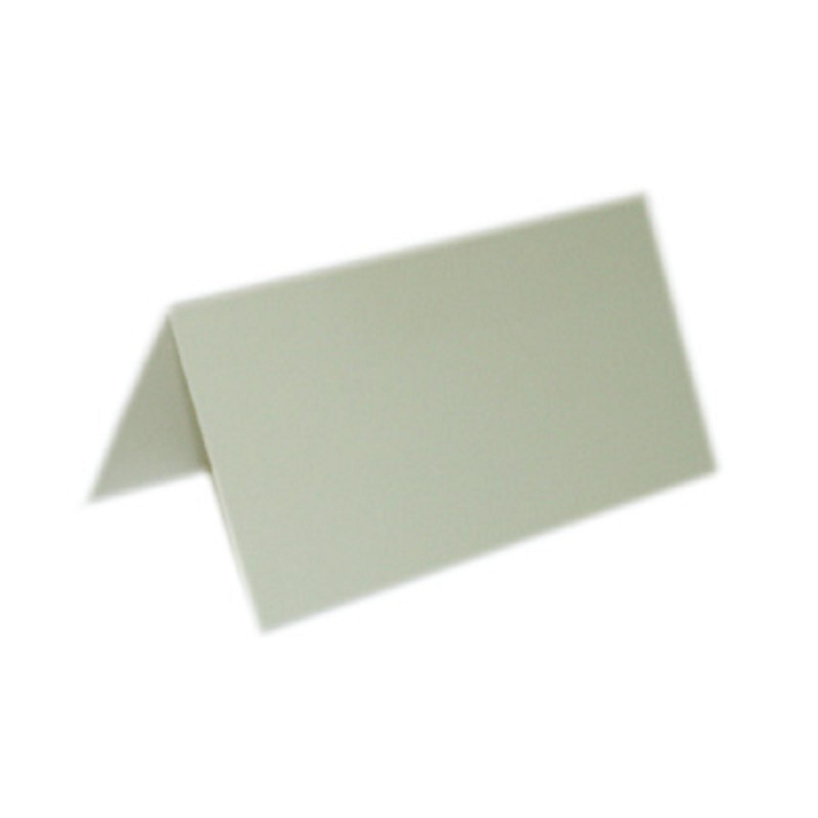 "50 Plain Ivory Place Cards Scored for easy bending 4.25"" x 1.75"" folded"