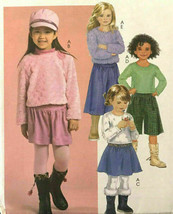 McCalls M5172 Girls Top Skirt Goucho 2 Lengths Easy Sizes 6-7-8 Uncut Pa... - $12.71