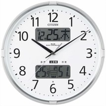 Citizen Radio Wave Wall Clock In The Form Navi F Temperatue 4FY618-019 - $86.72