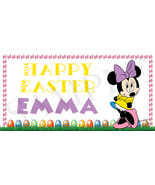 Minnie Mouse Easter Basket Sticker, Waterproof and Personalized - $3.25+