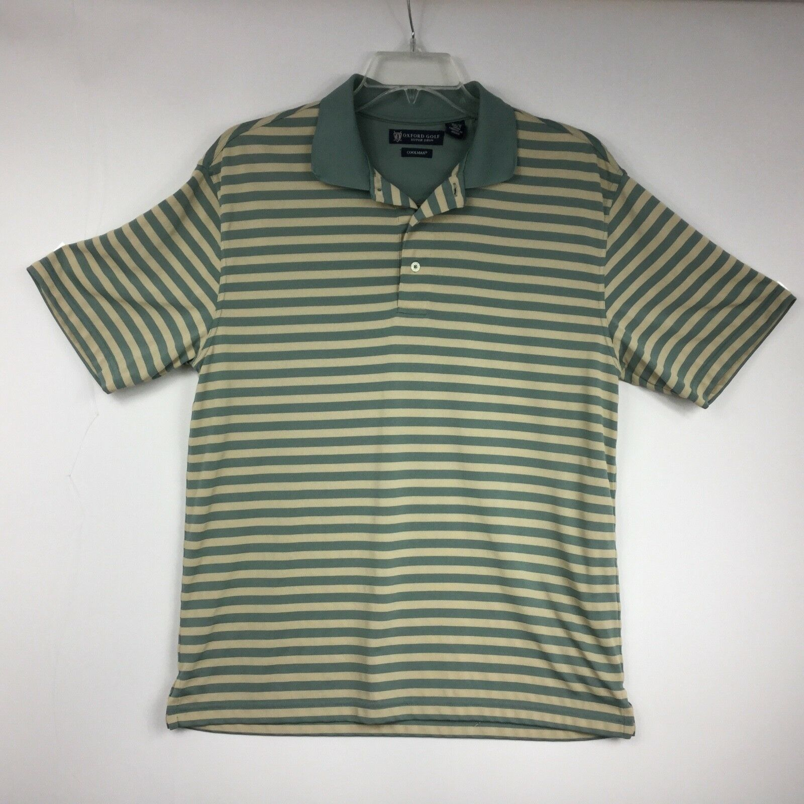 Oxford Golf Mens Shirt Cool Max Polo Style Short Sleeve Super Dry Size M