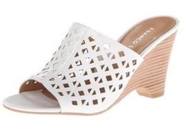 Women's Shoes Franco Sarto TINTA Dress Wedge Sandal Cutouts Leather WHITE - $53.99