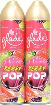 2 Ct Glade 8 Oz Limited Edition Berry Pop Strawberry Dewberry Lime Zest Spray - $13.99