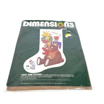 Dimensions Felt Embroidery Teddy Bear Stocking Kit 9510 Opened Complete ... - $19.79
