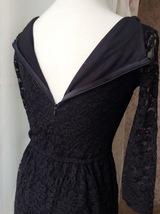 Black Crop Sleeve Stretch Long Lace dress BLACK Plus Size Lace Formal Dress NWT image 6