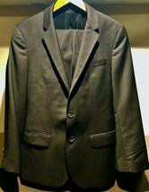 """Hugo Boss Mens 34R Dark Brown """"Huge1/Genius1"""" Slim Fit Two Button Suit - $234.98"""