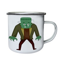 Scary Halloween Zombie Retro,Tin, Enamel 10oz Mug q155e - $13.13