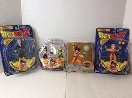 NEW Dragon Ball Z Irwin Toys Action Figure Lot Of 4 Trunks, Krillin, Gok... - $121.54
