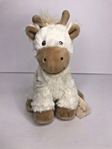 "Macy's First Impressions Giraffe Cream Brown 9"" Baby Soft Toy Plush Stuf... - $14.49"