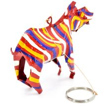 Handcrafted Painted Colorful Recycled Aluminum Tin Can Zebra Ornament Zimbabwe image 5