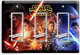 STAR WARS FORCE AWAKENS JEDI LEIA TRIPLE GFCI LIGHT SWITCH WALL PLATE RO... - $19.99