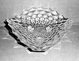 "Fostoria American Clear Glass Three Corner 11"" Spreading Centerpiece Bowl - $37.40"