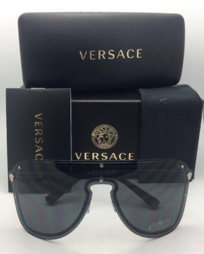9db5a22b53 New VERSACE Sunglasses VE 2180 1000 87 125 Silver   Black ...