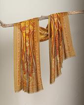Smithsonian Golden Paisley Shawl 100% Merino Wool  - €91,19 EUR