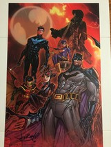 "DC Comics Batman Bat Family Signed Jon Boy Meyers 11"" x 17"" Print - $39.95"