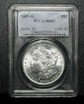 1883O Morgan Silver Dollar Coin PCGS MS63  Lot A 448
