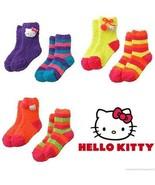 HELLO KITTY 2-Pack Super-Soft Plush Slipper Socks Toddlers/Girls Ages 3-10 - $10.40+