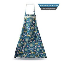 Cute Adjustable Women's Kitchen Lace Apron 100% Pure Cotton Cooking Baki... - $12.79