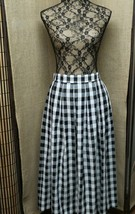SHARON YOUNG DALLAS Gingham Blk/Wht/Gold Plaid ... - $29.46