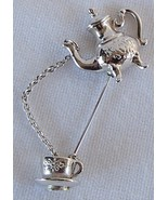 AVON Teapot and Teacup Stick Pin Brooch Jewelry Free Shipping - €8,33 EUR