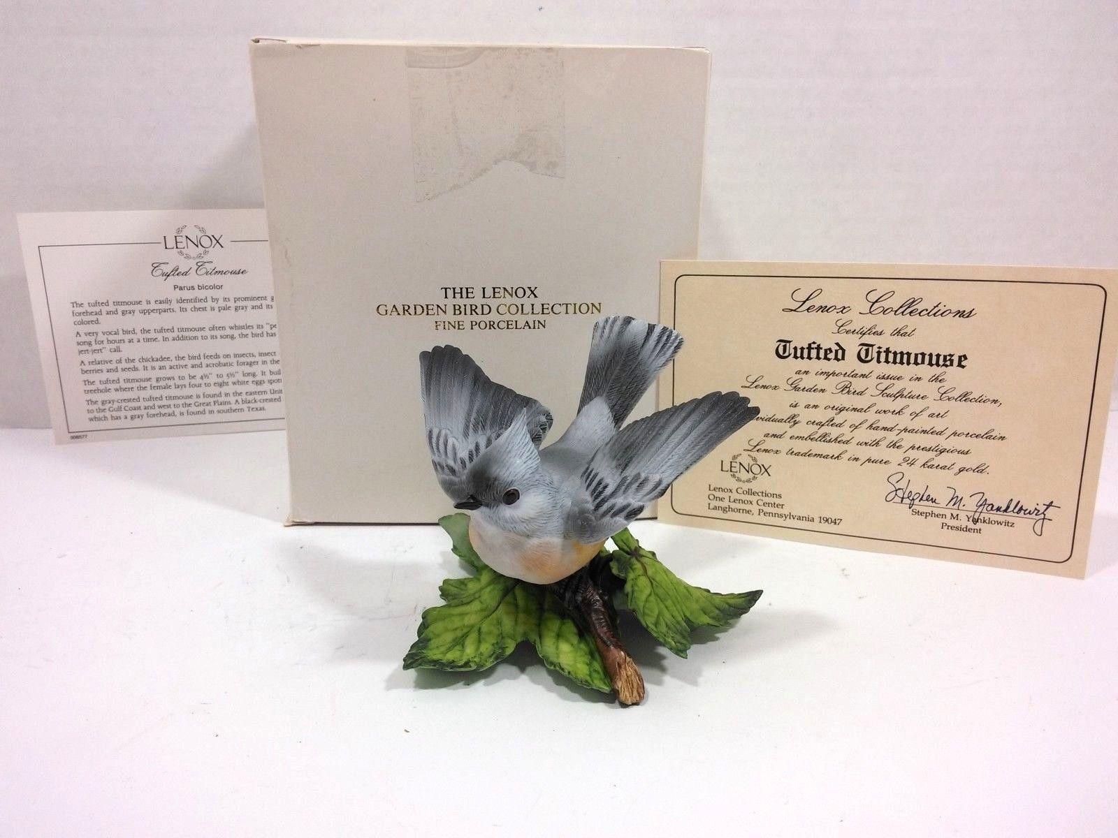 THE LENOX GARDEN BIRD COLLECTION Tufted Titmouse (Fine Porcelain 1986) image 2