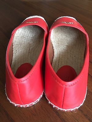 974d99c10 ... germany coach red black white soft lambskin leather flat shoes size  6.5b red 1acb8 15d37