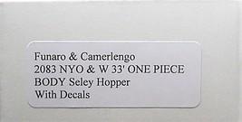 Funaro & Camerlengo HO NYO&W 33' Seley Hopper Kit 2083 image 3