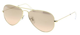 New Ray Ban Aviator RB3025 001/3E 62mm Gold w/Pink Silver - $214.59