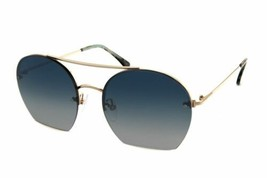 Tom Ford FT0506 28W Brillante Oro Rosa Antonia Cuadrado Gafas de Sol Aviator - $148.50