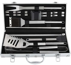 ROMANTICIST 19Pc Heavy Duty Stainless Steel BBQ Grill Tool Accessories S... - $20.84