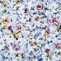 Fleur Couture Digiprint~Sachet Flowers Chambray Blue Floral Cotton Fabri... - $14.20