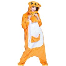 Animal Pajamas - Kangaroo Plush Cosplay Onsies Sleepwear(Plush Toy Included) - $46.99