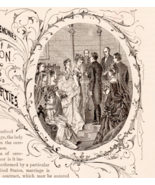 Wedding Ceremony Bride Groom 1876 Marriage Decorative Text Art Illustrat... - $18.99