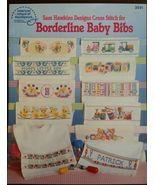1 Vintage 1990 American School of Needlework Leaflet Borderline Baby Bibs  - $8.99