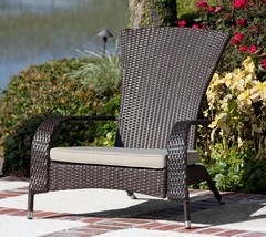 Pool Side Chair Patio Garden Deck Lounge Wicker Armchair Outdoor Porch F... - $107.61