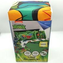 TMNT Rise of the Teenage Mutant Ninja Turtles Full Microfiber Sheet Set 4 Piece - $20.31