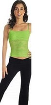 Eurotard 0005 Women's One Size Fits Most Lime Camisole Fishnet Crop Top ... - $15.83