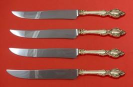 Lasting Grace by Lunt Sterling Silver Steak Knife Set 4pc Texas Sized Custom - $247.10