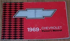 1969 Chevrolet Owner's Manual Part Service Book - $55.00