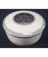 "Mikasa Fine China Porcelain Trinket Box L3242 White Christmas 4.25"" Snow... - $25.05"