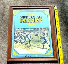 "Sports Kessler Whiskey ""Smooth As Silk"" Mirror Football / Rugby 12.5 ""x ... - $99.99"