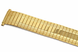 SPEIDEL 18-22MM EXTRA LONG GOLD TWIST O FLEX EXPANSION STRAP WATCH BAND - $19.79