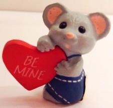 Hallmark Miniature Valentine Mouse Heart 1988 - $8.90