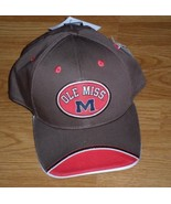 *OLE MISS BASEBALL CAP HAT ONE SIZE OFFICIALLY LICENSED PRODUCT BROWN NWT - $14.99