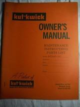 Kut-Kwick HT-1600-60 lawn tractor manual original owner's parts manual **rare - $16.41