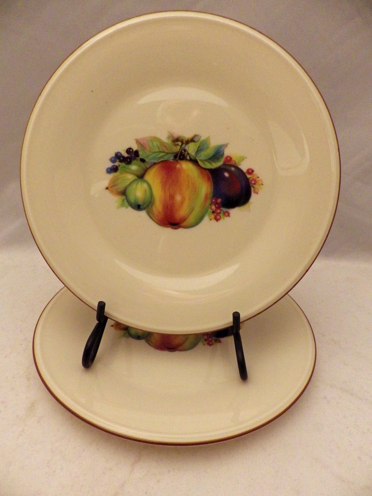 Lenox Special pattern - 2 Salad plates Fruit Design Apple/Plums - 8  wide - NEW & Lenox Special pattern - 2 Salad plates Fruit and 16 similar items